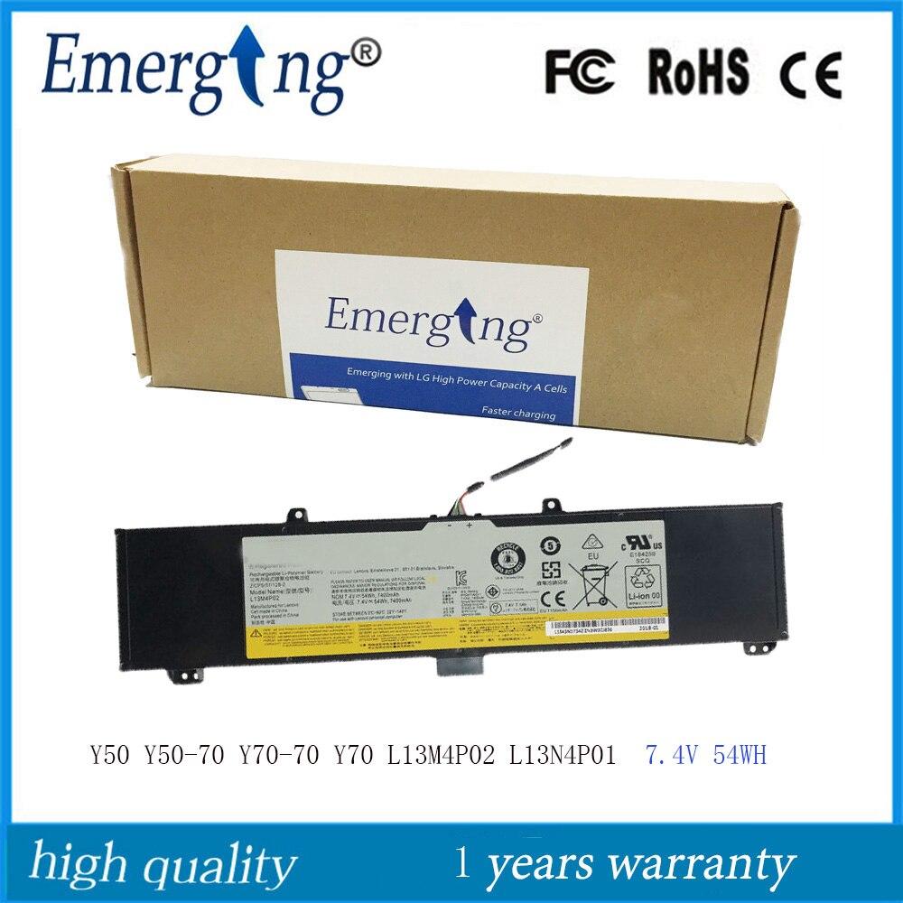 7.4 V 54Wh Nouveau Original batterie d'ordinateur portable pour Lenovo Y50 Y50-70 Série Y50-70-ISE Y50-70 Y70-70 Y70 L13N4P01 L13M4P02