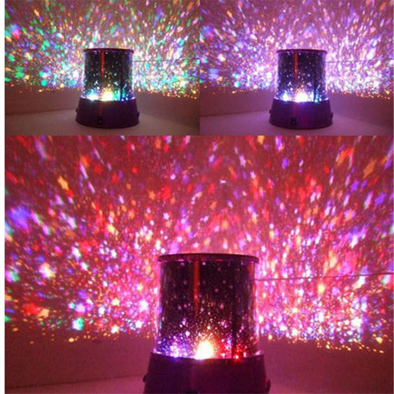 Creative LED Projection Night Light Christmas New Year Starry Star Master Sky Lamp Birthday Gift for Kid Bedroom Luminaria Decor