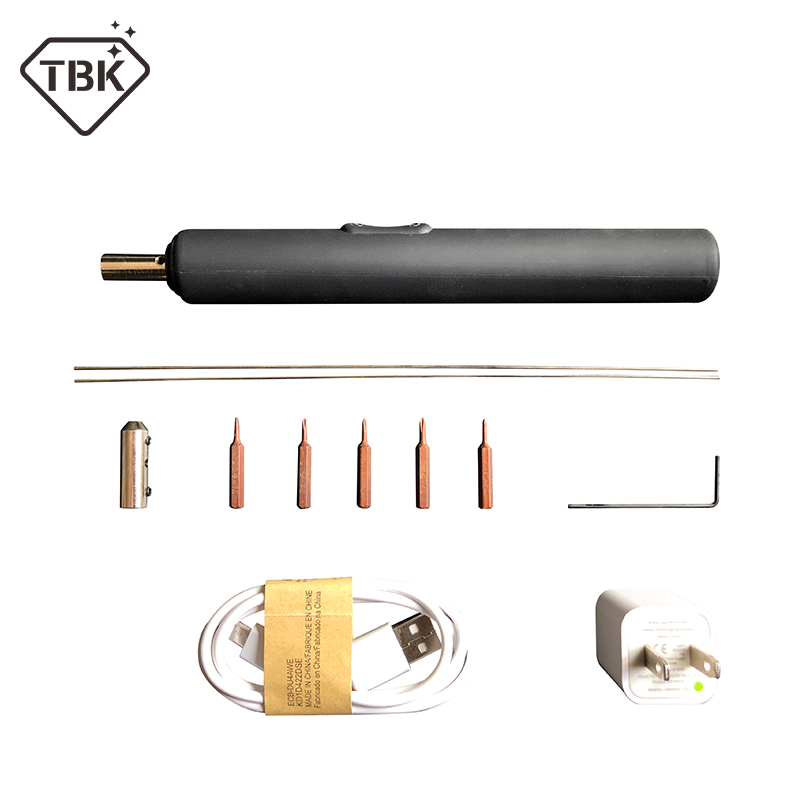 TBK 2in1 Électrique Tournevis Colle Remover Outils LCD UV Colle propre Tournevis OCA Supprimer Colle Tournevis pour lcd colle supprimer