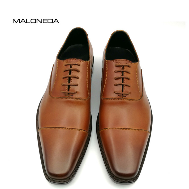 Bespoke Handmade Goodyear Welted Shoes 100% Genuine Leather Lace-up Oxford Dress Shoes Men's Wedding Party Shoes custom made men stingray skin oxford dress shoes goodyear welt handmade lace up formal office party luxury pearl fish suit shoes page 2