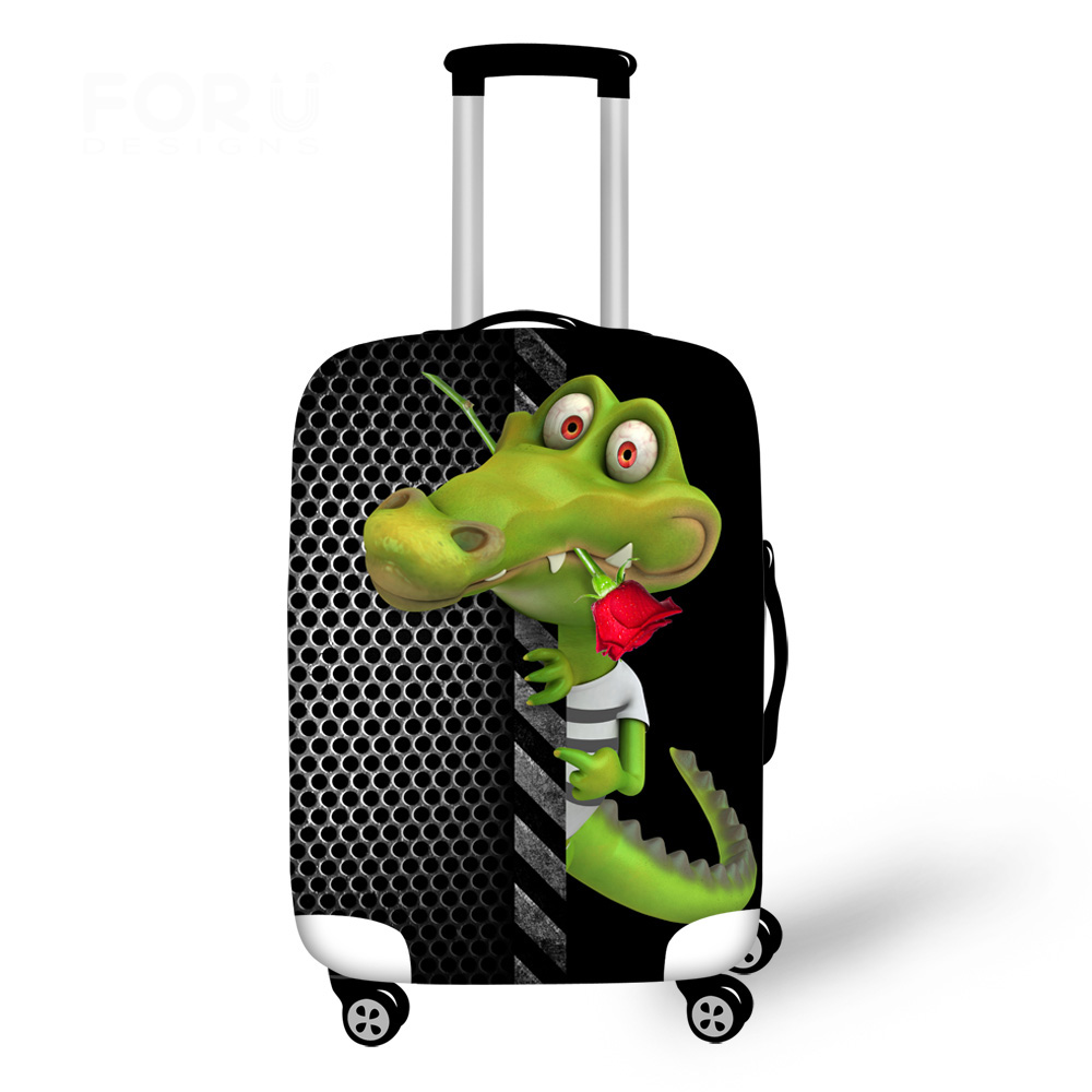 Animal Luggage Protective Cover Alligator Luggage Case Cover for 18-30 inch Trolley Suitcase Elastic Rain Cover