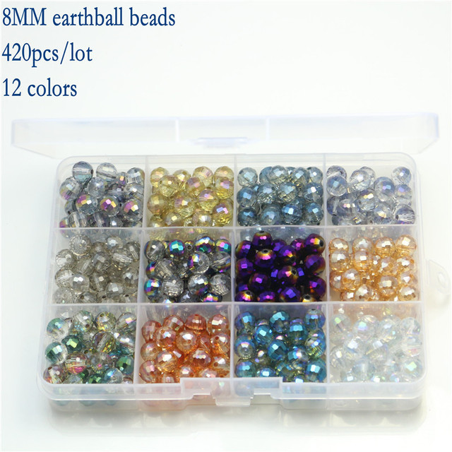 Hot Diy Bracelet Crystal Gl Beads Kit Accessories Mixed Bead Set Box With