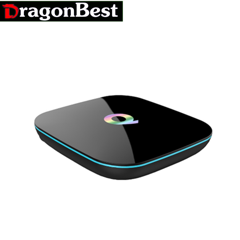 TV Box  Q-Box Amlogic S905X Quad Core OS Android 5.1 Dual Band Wifi 2.4G and 5G BT 4.0 1PCS Vensmile
