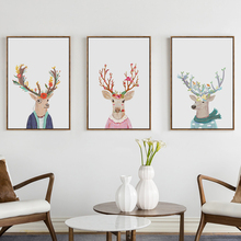 Bianche Wall Mr. Deer and Deers Fashion Show Simple Canvas Painting Art Print Poster Picture Paintings Home Decoration
