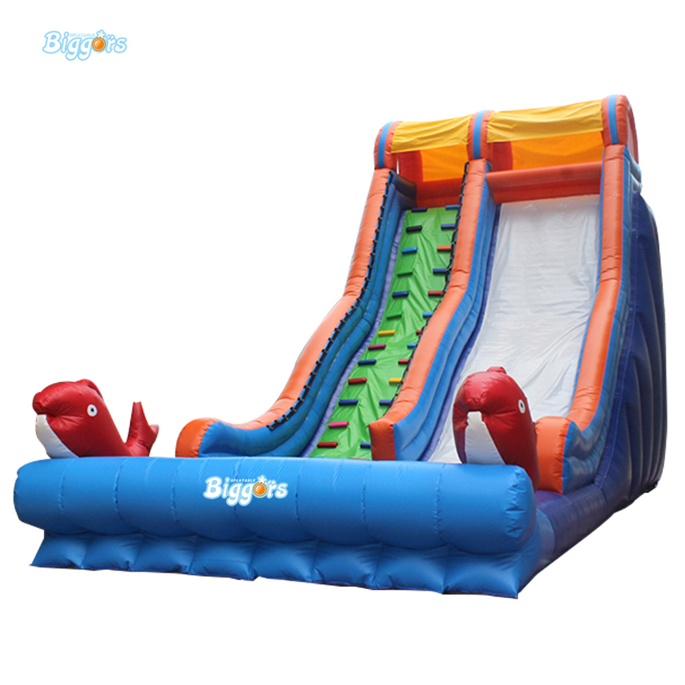 Funny Summer Inflatable Water Games Inflatable Bounce Water Slide With Stairs And Blowers new inflatable slide wave slide slide ocean hx 886