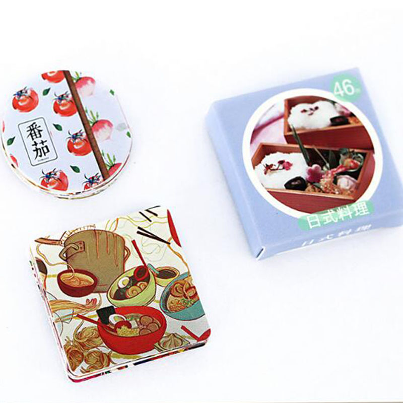 Купить с кэшбэком New Sushi Food Diary Paper Lable Stickers Crafts And Scrapbooking Decorative Lifelog Sticker DIY Lovely Stationery 46 PCS/box