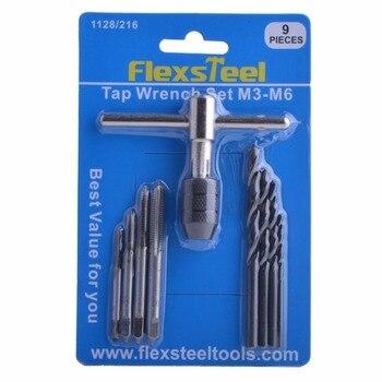 Flexsteel 40PCS סגסוגת פלדה 58-62HRC ברז ולמות סט, 9/20/40Pcs מטרי ברז ברגים חוט כלים מת מחזיק לשימוש מקצועי