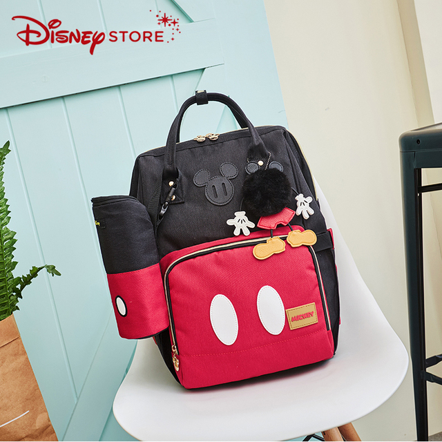 Disney Minnie Mickey Classic Style Diaper Bags 2PCS/SET Mummy Maternity Nappy Bag Large Capacity Baby Bag Travel Backpack 001
