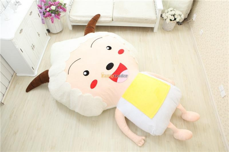 Fancytrader CuteHigh Quality Goat Bed 200cm X 150cm Lovely Huge Giant Lazy Goat Bed Tatami Carpet Sofa Free Shipping FT90297