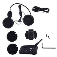 V6 Helmet Intercom 6 Riders 1200M Motorcycle Bluetooth Intercom Headset Walkie Talkie Helmet BT Interphone