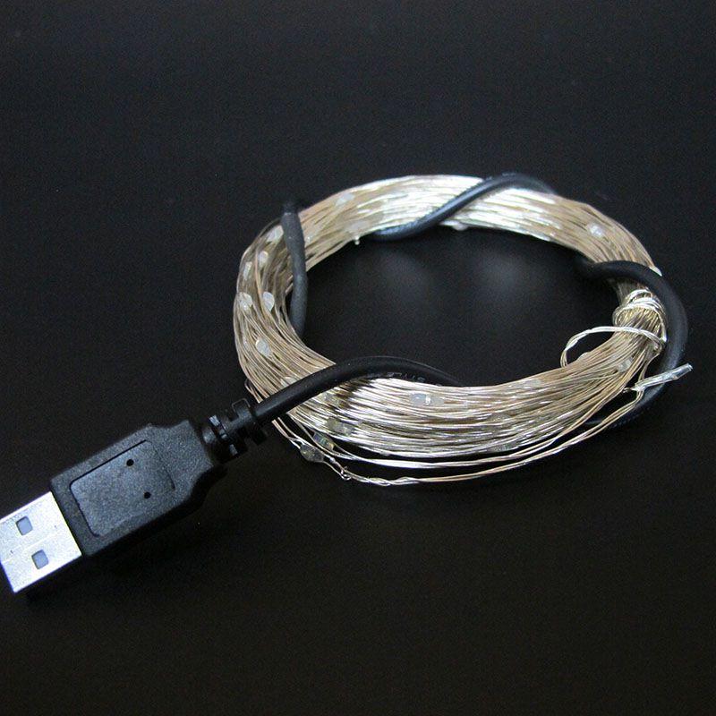 USB LED String Light 10M 100LEDs ruban fil chaîne Fée Light Party - Éclairage festif - Photo 6