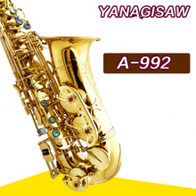 Saxophone Alto YANAGISAWA A-992 E Alto Sax / wind / gold tube tube Perfect appearance Free shipping Sax instruments(China)