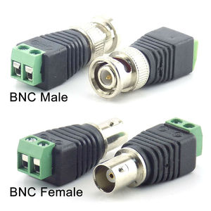 Image 2 - 2/5/10 قطعة 12 فولت تيار مستمر BNC ذكر أنثى موصل اقناع CAT5 فيديو Balun محول التوصيل ل Led قطاع أضواء CCTV كاميرا الملحقات