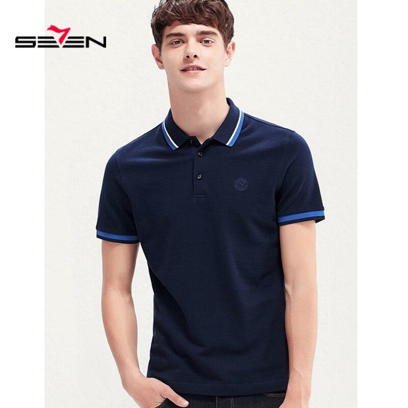 Seven7 2019 nouveaux hommes Polo décontracté homme Polo chemise d'été hommes d'affaires manches courtes col rabattu chemise 116T50200