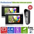 Ysecu 7 дюймов жк-экран 800TVL видео домофон телефон видео-дверной звонок камеры HD телезритель двери 2 монитор 1 камера