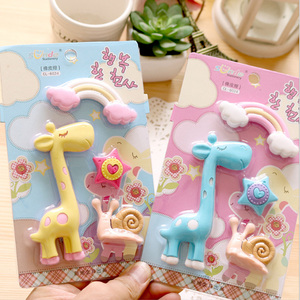 4pcs/lot Creative Giraffe rainbow Kawaii stationery Learning office appliance escolar child Toy eraser gift School supplies