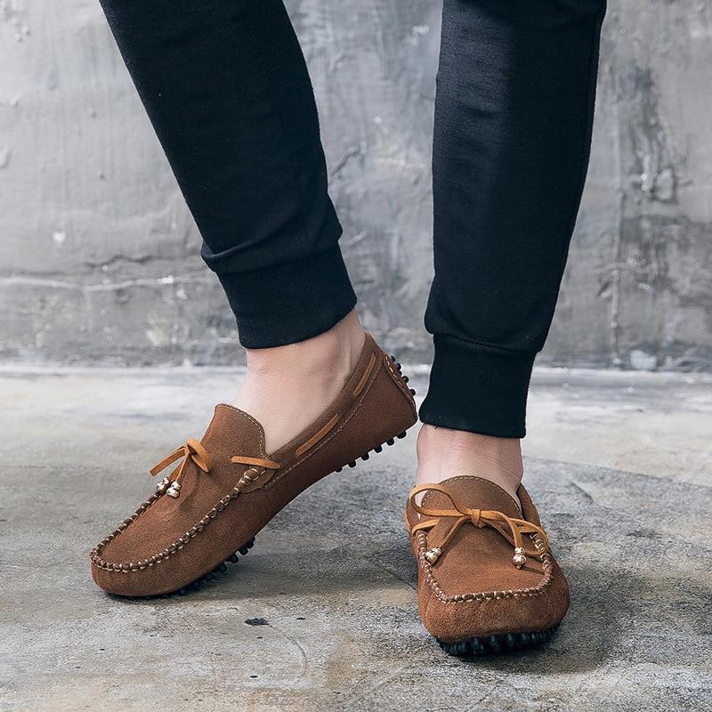 De Fond Brown noir 2018 Et Plat Printemps Chaussures Cuir Occasionnels Hommes En gris D'été TH4Twx8R