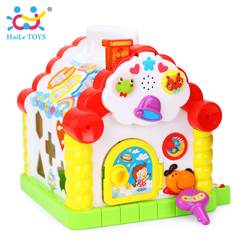 HUILE-TOYS-739-Multifunctional-Musical-Toys-Baby-Fun-House-Musical-Electronic-Geometric-Blocks-Sorting-Learning-Educational-Toys-4