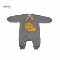 2017 Autumn Winter Cute Animal Unisex Baby Rompers Long Sleeve Covered Button Cotton Cartoon Design Brand