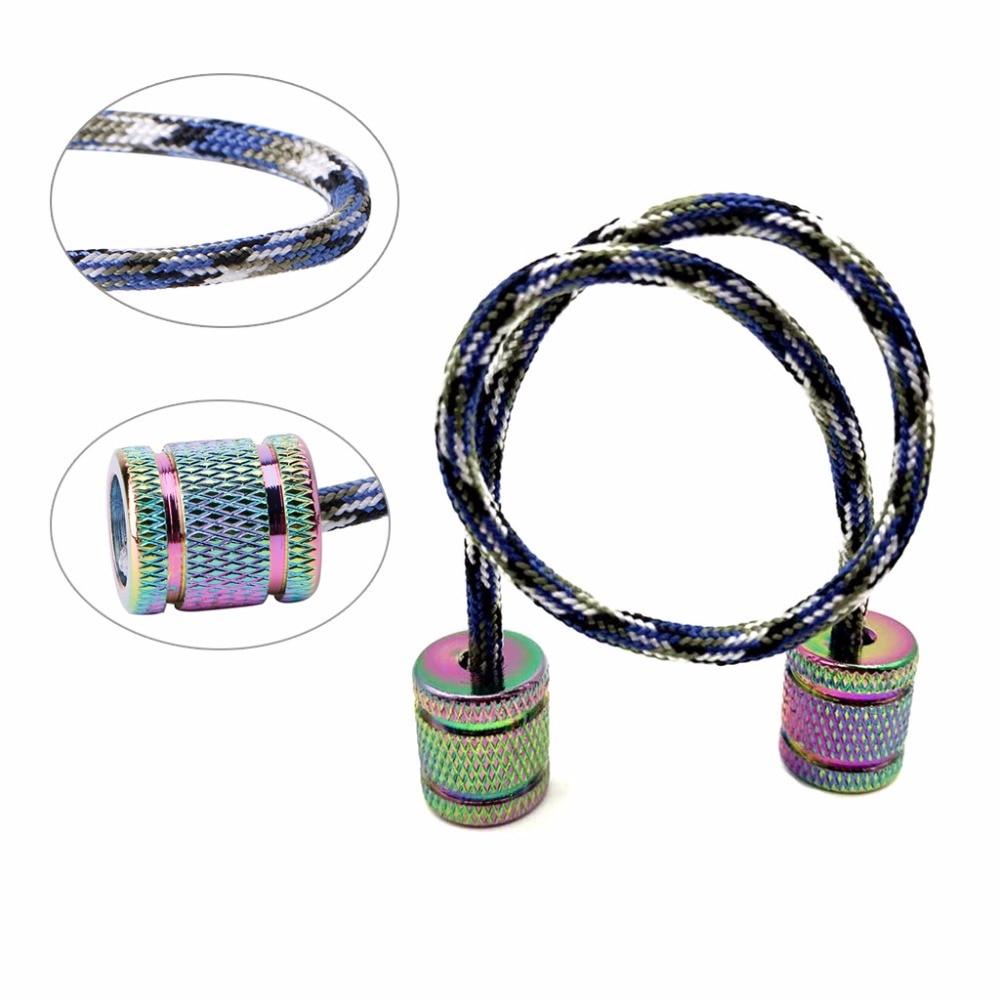 OOTDTY Aluminum Alloy Begleri Fidget Toy Worry Beads Finger Skill Paracord Stress Toys