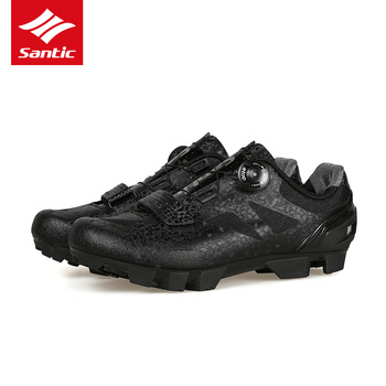 Santic Men MTB Cycling Shoes Breathable Mountain Bike Riding Shoes Self-Locking Bicycle Sport Shoes Zapatillas Ciclismo 2020 New