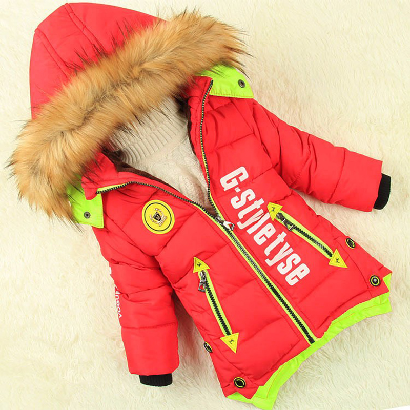 winter jacket boys Male child wadded jacket children's clothing thick jacket coat of long kids parka baby cotton-padded clothes long section men s solid cotton padded wadded jacket fashion clothes trench coat hooded jackets casual outerwear slim parka 3xl
