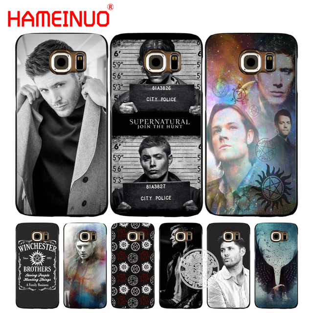 quality design 0ecd6 d8509 US $2.92  HAMEINUO Supernatural SPN Jensen Ackles cell phone case cover for  Samsung Galaxy S7 edge PLUS S8 S6 S5 S4 S3 MINI-in Half-wrapped Case from  ...