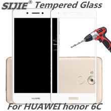 full cover Tempered Glass for huawei honor 6c 6 C enjoy 6s nova smart 5 inch Screen Protective display case frame all edge black
