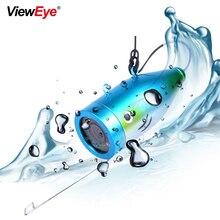 ViewEye Cámara de pesca submarina individual, accesorios para buscador de peces de 7 pulgadas, 12 LED infrarrojo IR, lámpara o LED blanco brillante