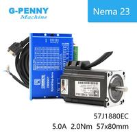 Nema23 Closed Loop Stepper Motor 2.0N.m 4 wires 285Oz in D=8mm Nema 23 2.2Nm JMC Close Loop Stepping Motor Servo Stepper Motor