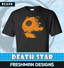 Star Wars-Splatter Death Star -Graphic T-shirt -Jed-Several Colors-Free Shipping Free shipping free shipping