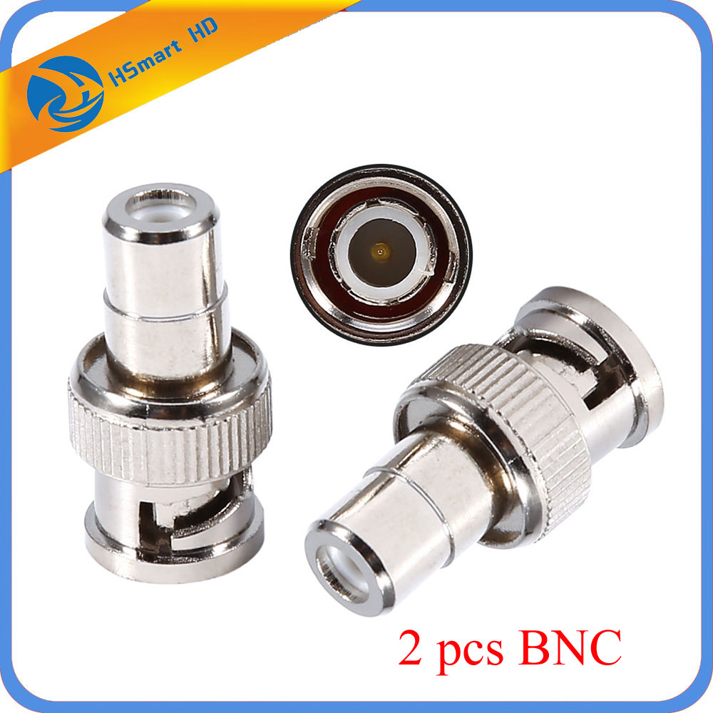 Home BNC Male to RCA AV Female Coaxial Connector Adapter for CCTV Accessories HD 1080P AHD TVI Analog Camera DVR Systems LJ 1 pair rca male female for cctv phono rca male plug rca to 2pin spring connector cctv cat5 to camera cctv video bnc balun