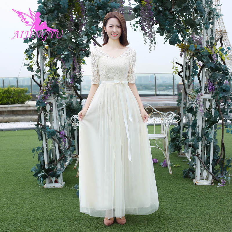 AIJINGYU 2018 sexy prom   dresses   women's gown wedding party   bridesmaid     dress   BN496