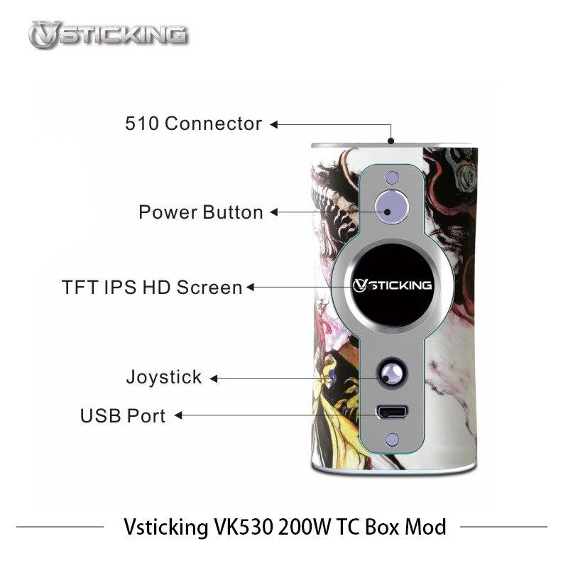 Cigarettes électroniques Mod Vsticking VK530 200 W Boîte Mod Vaporisateur Max 200 w avec YiHi TC SX530 puce de contrôle de la température vaporisateur - 6