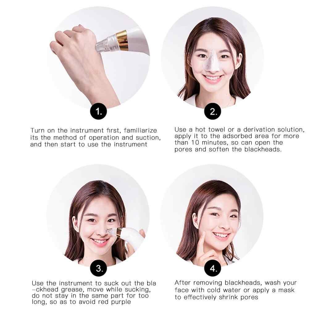 Siyah nokta Remover Yüz Gözenek Temizleyici Elektrik Akne komedon aleti Kiti Güzellik Cihazı