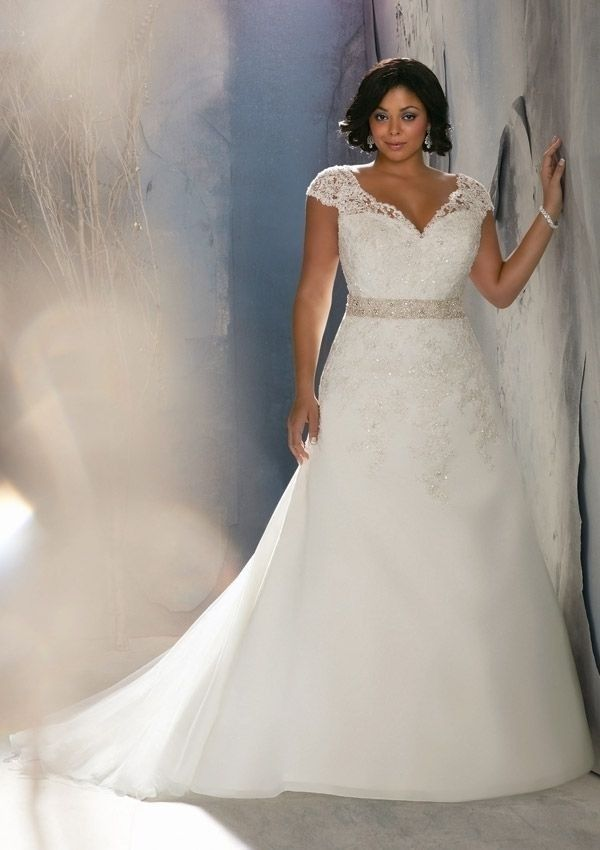 plus size 2014 a line organza strapless wedding dress custom size 16 18