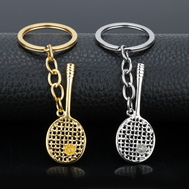 9144dd3c43de9c MQCHUN 1PCS Mini High Quality Alloy Tennis Badminton Racket Keychain  Badminton Charms Pendant Key Chain Sport
