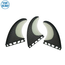 Future G5/G7 Surfing Fin Fiberglass Honeycomb Black and White Color with logo/no logo Fins Customized Surfboard