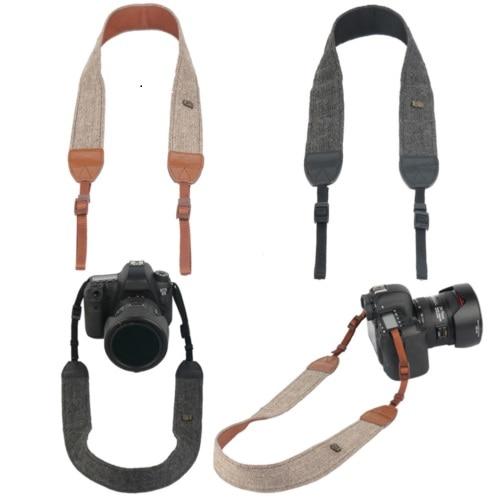 Accesorios de cámara Correa de cuello de hombro vintage Correa de cámara de algodón duradera para Sony Nikon Canon Olympus DSLR Cámara
