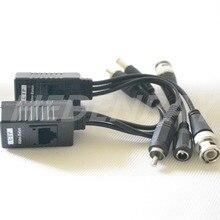 10 pcs (5 Par) Balun Vídeo HDCVI/HDTVI/RJ45 AHD CCTV BNC UTP Transceptor de Vídeo, power Over CAT5/5E/6 Cabo Para A Câmera