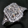 Vecalon Fashion ring Princess cut 2ct Cz Diamond ring 10KT White Gold Filled Women Engagement Wedding Band ring