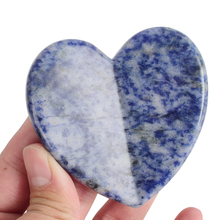 Jeaxi 1 Piece Natural Sodalite Gua Sha Massage Stone Acupuncture Scraper Tool Face back Foot Massager