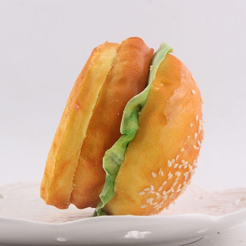 5PCS NEW 9CM Cute Squishy Yummy Hamburger Make Up Mirror Cute ...