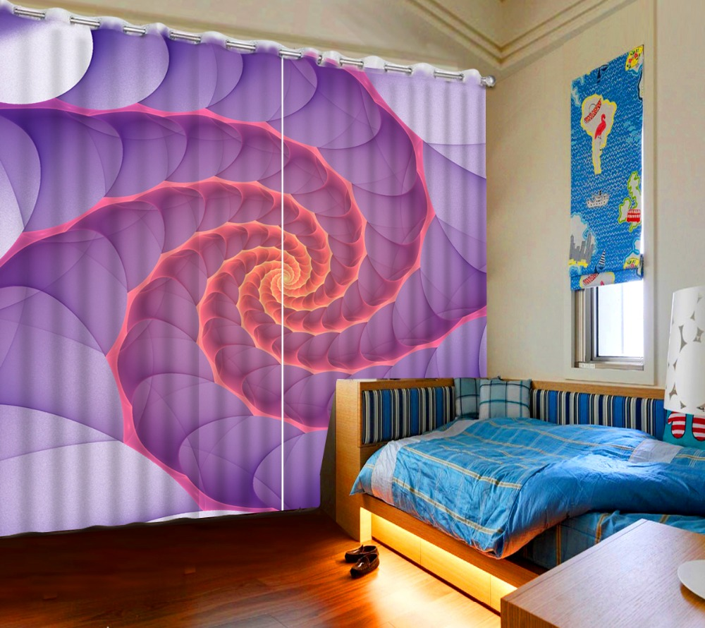 Modern mor renkli banyo dekorasyonu ev dekorasyonu dizayn - 3d Ev Dekor Modern Oturma Odas Soyut Renk Yuvarlak Mor Yatak I In Yatak Odas Perdeleri Karartma