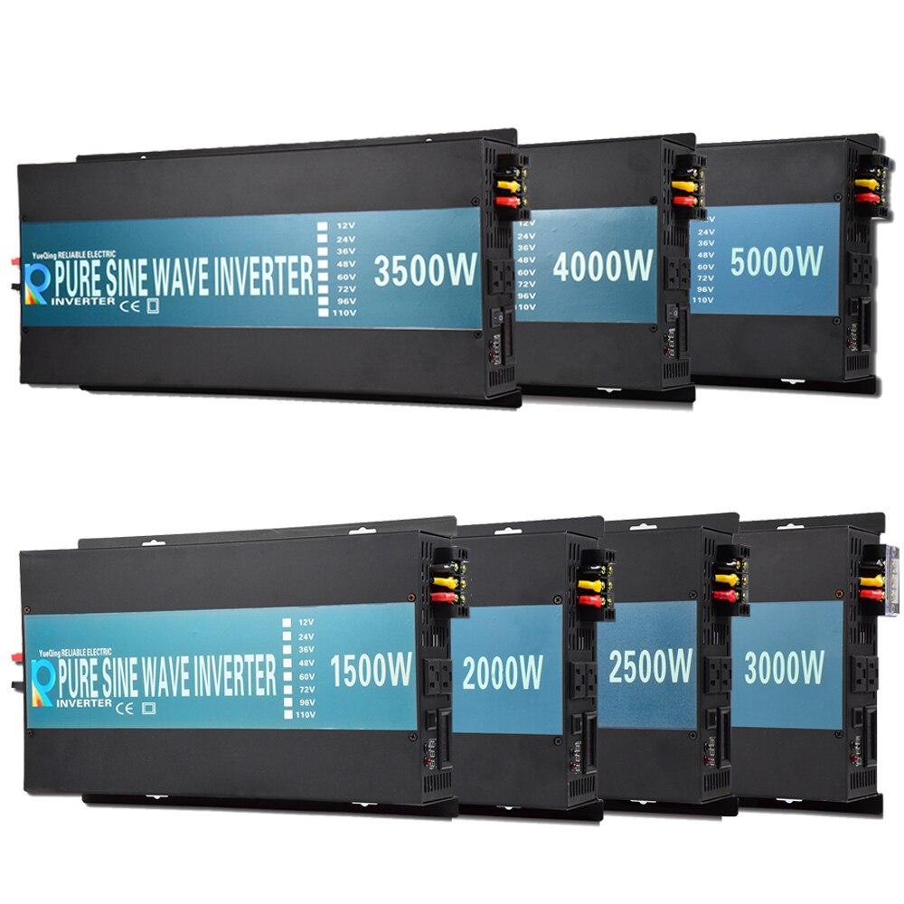 Чистая синусоида мощность Инвертор зарядное устройство солнечной контроллер Off grid автомобиля батарея вытесненный 1500 Вт 2000 Вт 2500 Вт 3000 Вт 3500