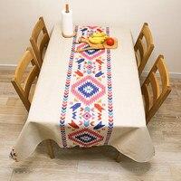 European style tablecloth fashion simple tablecloth cotton linen table cloth coffee table cover cloth