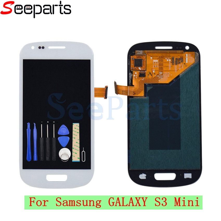 i8190 lcd s3 mini lcd For Samsung S3 Mini i8190 LCD Display Touch Screen Digitizer Assembly Replacement Part For samsung s3 mini