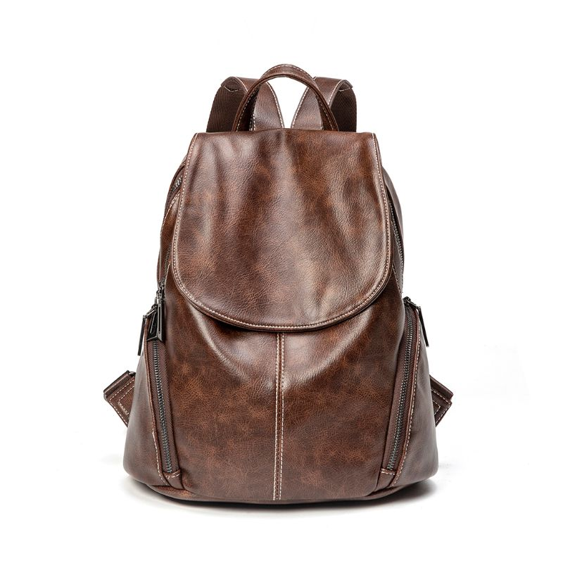 2019 New Fashion Women 39 s Backpack Travel PU Leather bag Daypack Rucksack Shoulder School Bag in Backpacks from Luggage amp Bags