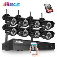ARSECUT 960P 8CH Wireless NVR Kit Security Wifi CCTV System 4PCS Outdoor IP Camera CCTV Wireless
