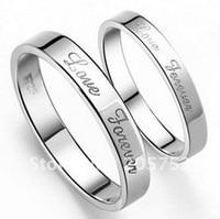 Lover Forever Engraved Promise Rings Custom Wedding Rings Men Ring Wide Band Wedding Jewelry Druzy